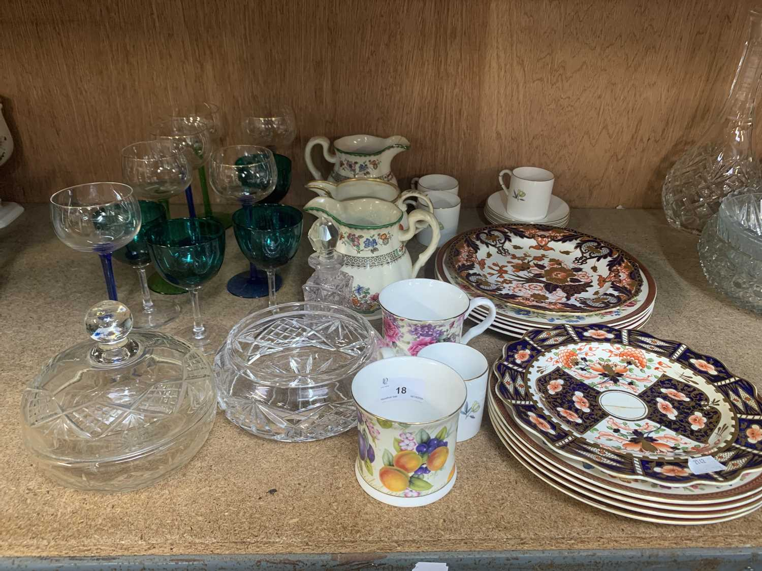 Lot 18-An Imari plate together with a more modern...