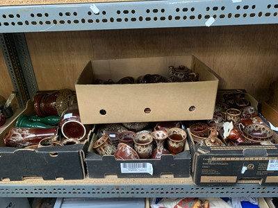 Lot 25-Four boxes of Fosters pottery.