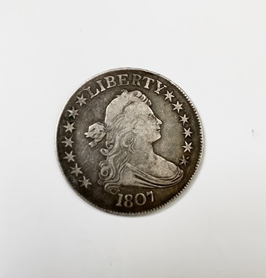Lot 59 - U.S.A. Half Dollar: A rare draped bust silver...