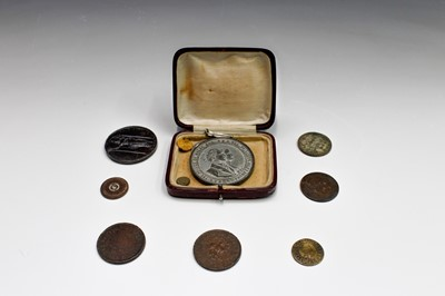 Lot 34 - TOKENS & COMMEMORATIVE MEDALLIONS: A) TOKENS:...