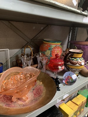 Lot 45-Caithness paperweight, French pottery jug and...