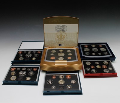 Lot 53 - GREAT BRITIAN proof coin year sets x 6...