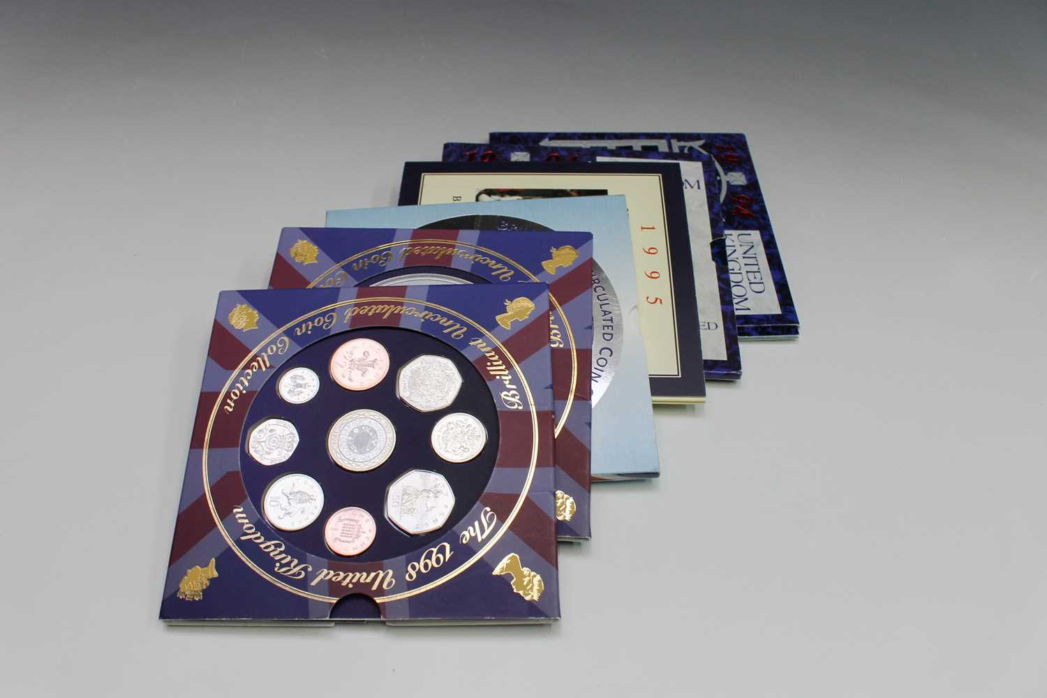 Lot 45 - GREAT BRITAIN uncirculated year sets x 6, the...