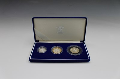 Lot 47 - GREAT BRITAIN 2003 silver proof 3 coin...