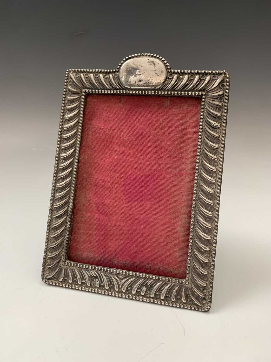 Lot 21-A silver-mounted photograph frame with...