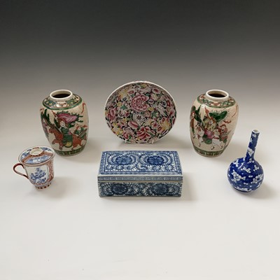 Lot 44-Miscellanous ceramics to include a pair of...