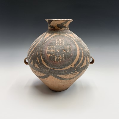 Lot 36-A Chinese Neolithic painted pottery storage...