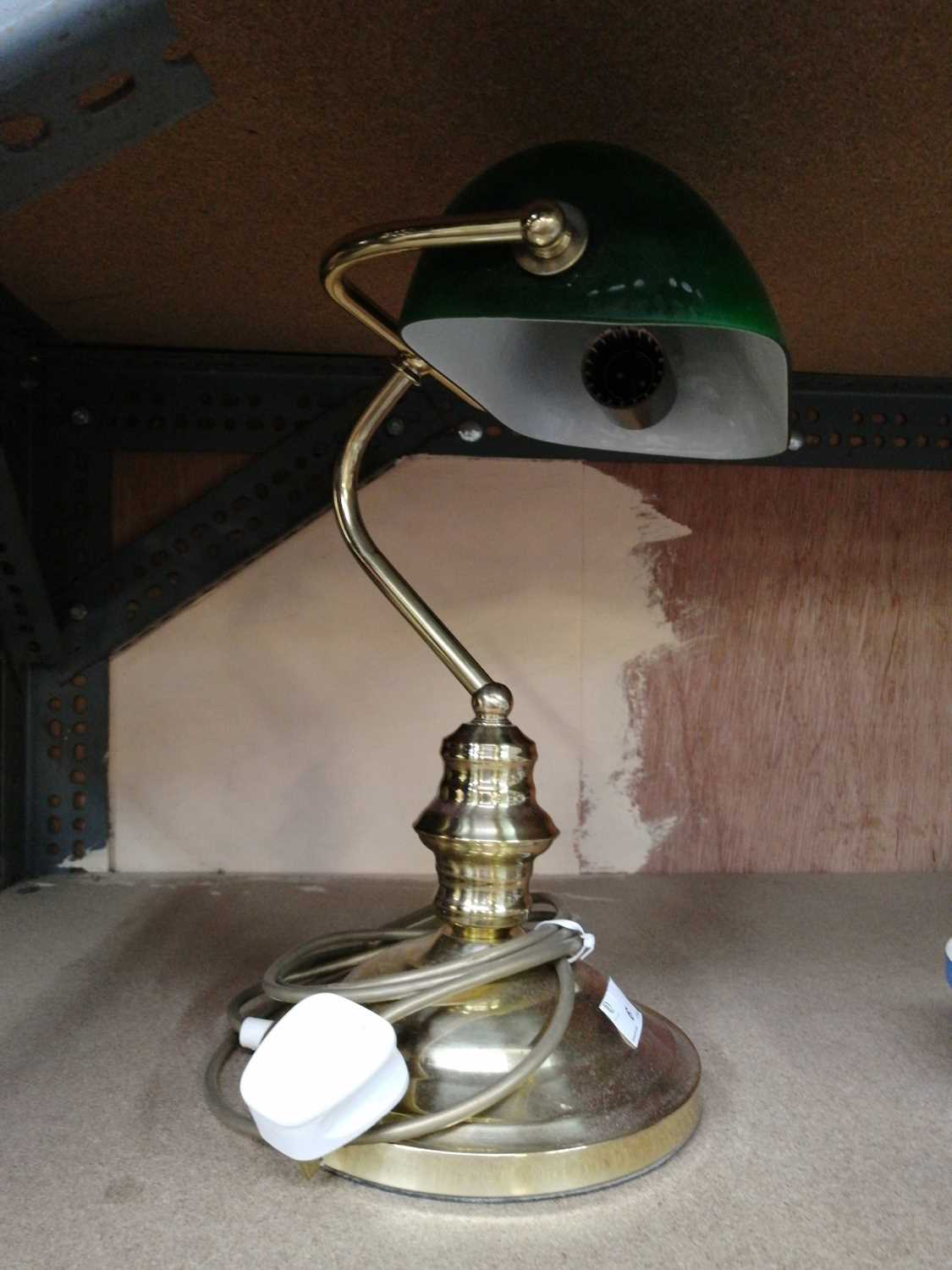 Lot 6-A banker's lamp.