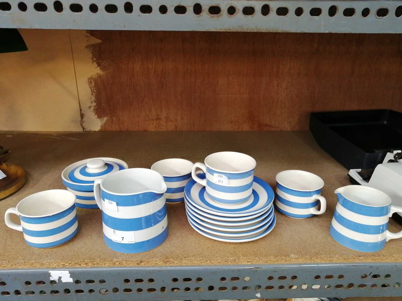 Lot 7-• Some 'T. G. Green' cornishware. Mugs,...