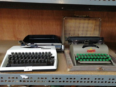 Lot 8-• A 'Tippol' typewriter and A 'Lillyput'...