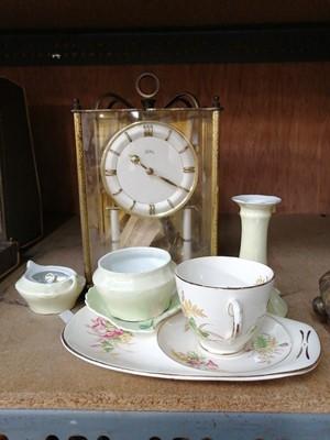 Lot 9-A 'Koma' skeleton clock and some ceramics.