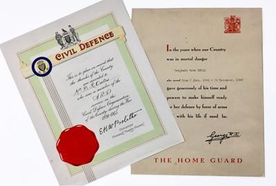Lot 201 - Military Second World War Cornwall Interest....