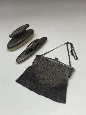 Lot 44-A silver mesh purse 5.5oz and two...