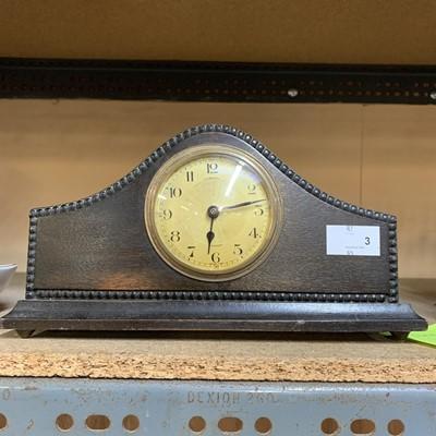 Lot 3-A mantle clock.