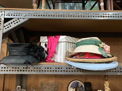 Lot 6-A collection of hats and hat boxes.