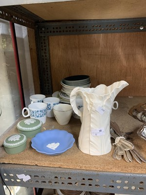Lot 18-A 'Royal Worcester' jug, some Wedgwood and...