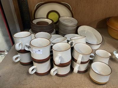 Lot 19-A part 'Denby' dinner and tea set.