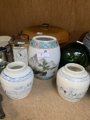 Lot 20-A 'Murano' ashtray, large ceramic cooking pot,...
