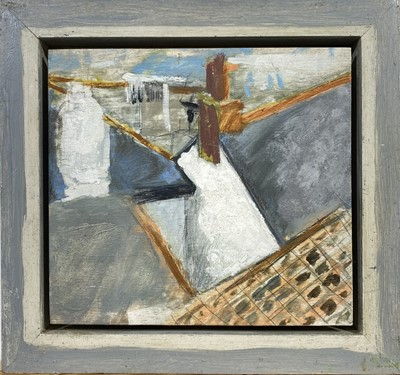 Lot 61 - Jeremy LE GRICE (1936-2012) Roofs, St Ives Oil...