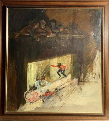 Lot 136 - Jill GARNIER (1890-1966) The Puppet Show Oil...