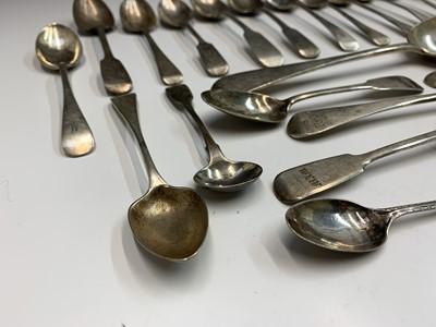 Lot 25-Silver spoons 17.5oz