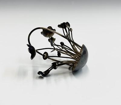 Lot 16-Asian silver novelties: a slipper a basket of...