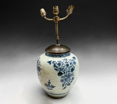 Lot 1 - A Chinese blue and white porcelain baluster...
