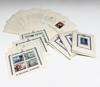 Lot 314 - Croatia Miniature Sheets - 1940's miniature...