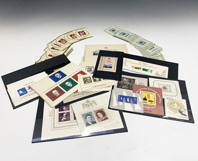 Lot 315 - European Miniature Sheets - An accumulation of...