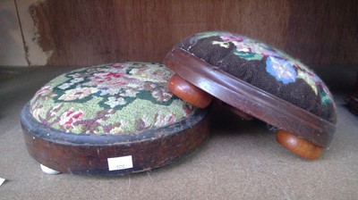 Lot 7 - Two tapestry footstools.