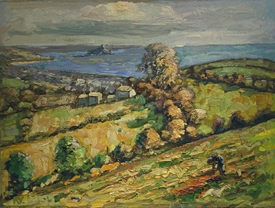 Lot 1 - Bob VIGG (1932-2001) View of Mounts Bay Oil on...