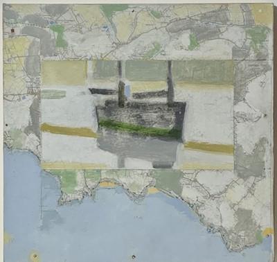 Lot 14 - Michael UPTON (1938-2002) Map Boat, Mounts Bay...