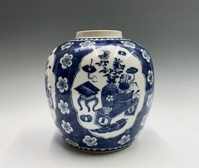 Lot 13 - A Chinese blue and white prunus blossum...