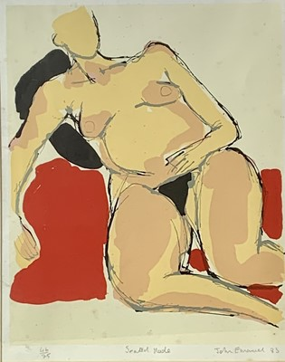 Lot 60 - John EMANUEL (1930) Seated Nude Lithograph...