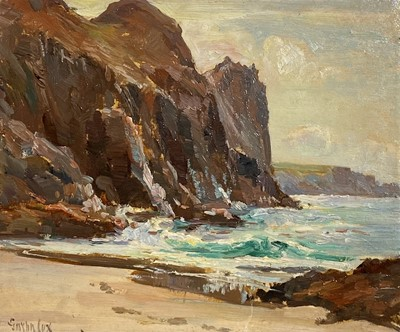 Lot 12 - Garstin COX (1892-1933) Kynance Cove Oil on...