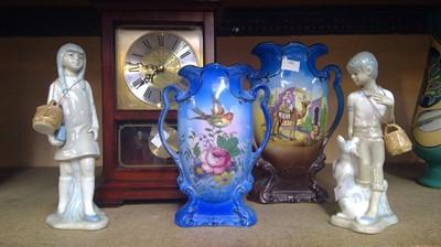 Lot 3 - A Westminster-Whittington mantle clock, pair...
