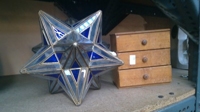 Lot 5 - A stellated dodecahedron or twelve pointed...
