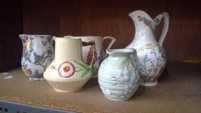Lot 9 - English porcelain jug and four other...