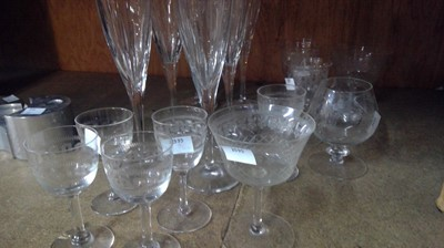 Lot 12 - Six Royal Brierley crystal champagne flutes...