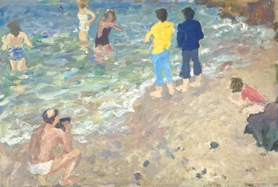 Lot 44 - John HARVEY (1935) Summers Day at the Seaside...