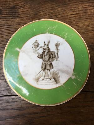 Lot 22 - English porcelain plaque (possibly copeland)...