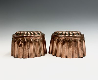 Lot 12 - A pair of copper jelly moulds, 19th century,...