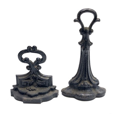 Lot 22-Two Victorian cast iron doorstops, height 32.5cm...