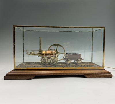Lot 23 - A copper and brass model of Richard Trevithick'...