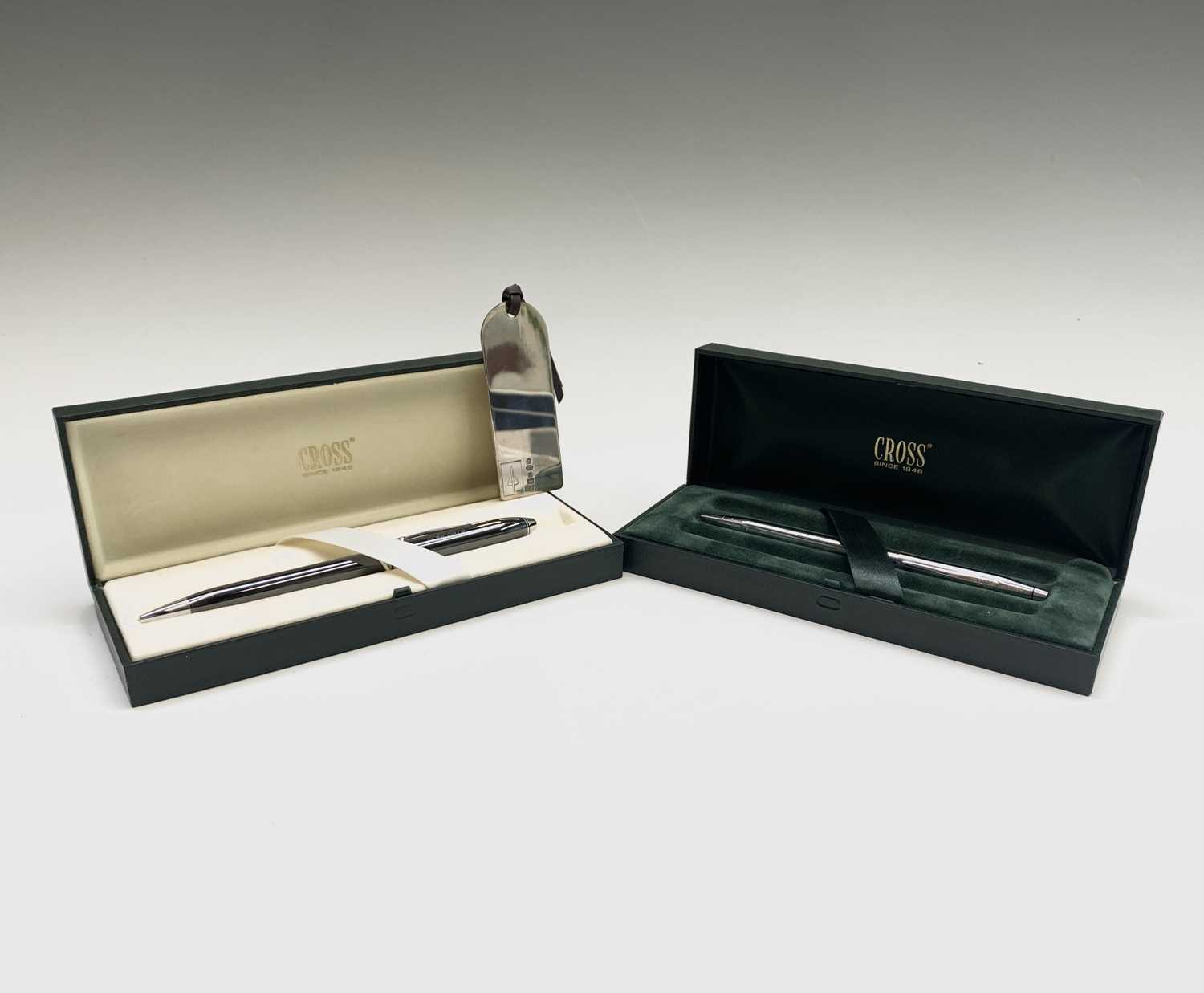 Lot 180 - A Carrs hallmarked silver Concorde luggage...