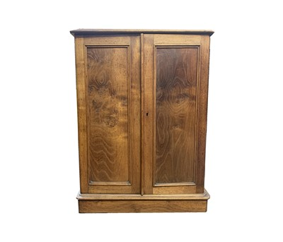 Lot 23 - A Victorian elm collectors cabinet, with a...