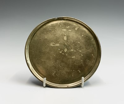 Lot 17 - A Chinese bronze incense tray, the base cast...