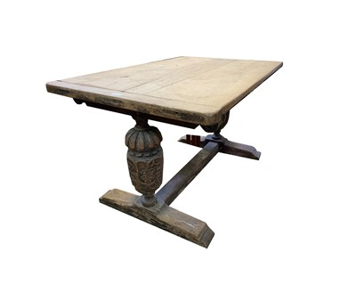 Lot 69 - An oak refectory table, 19th century,...