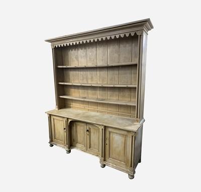 Lot 16 - A Cornish pine kitchen dresser, 19th century,...