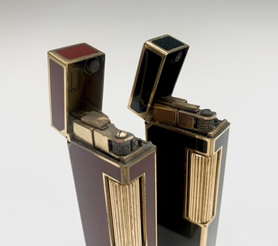 Lot 71 - Two Dunhill gold plated Rollagas lighters, one...